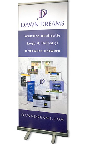 Rollup banner - roll-up banner - ontwerp - drukwerk design